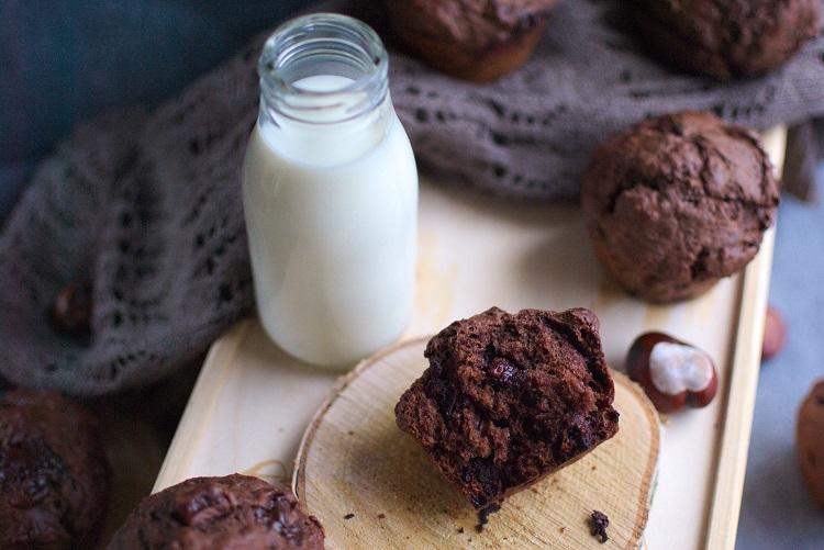 Muffiny potrójnie czekoladowe
