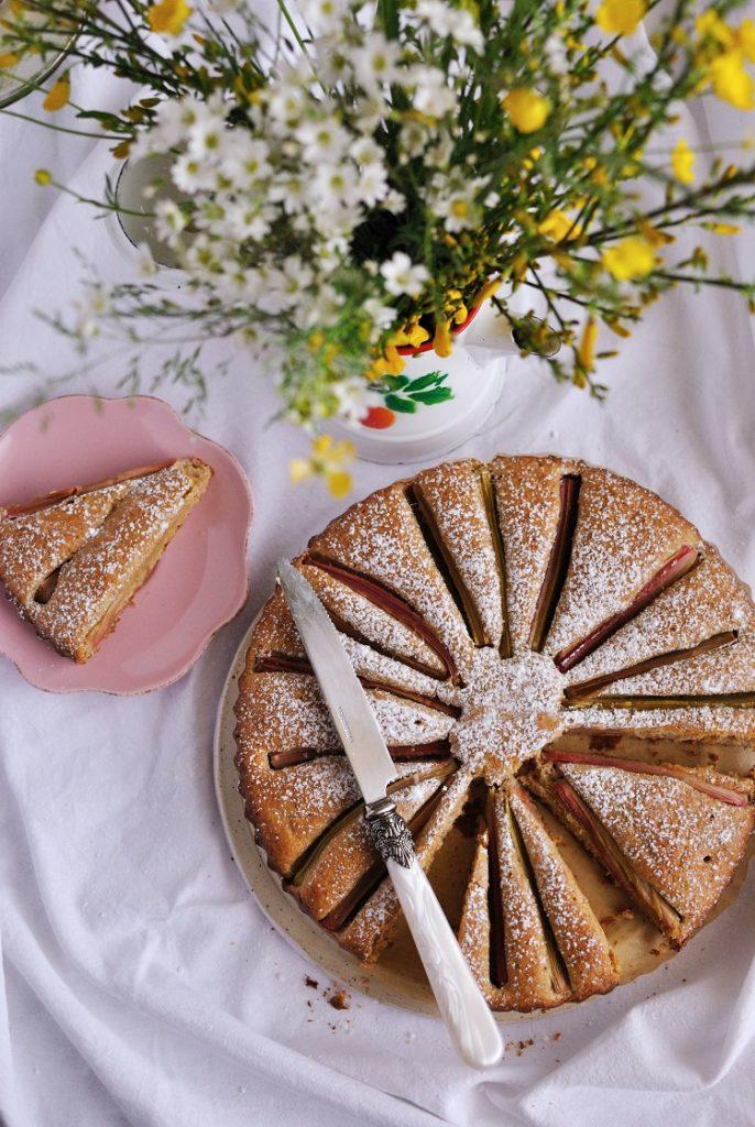 ciasto-orkiszowe-686x1024 Ciasto orkiszowe z rabarbarem