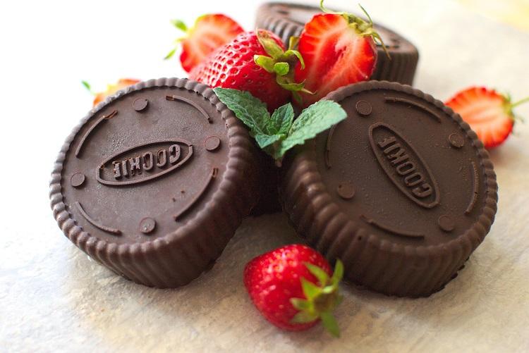 Ciasteczka owsiane w czekoladzie