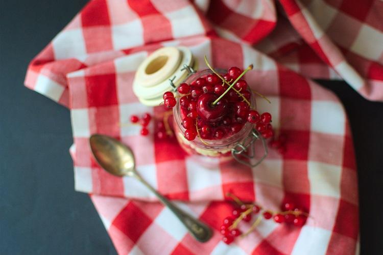 Jaglanka-1 Jaglanka z musem z czerwonej porzeczki