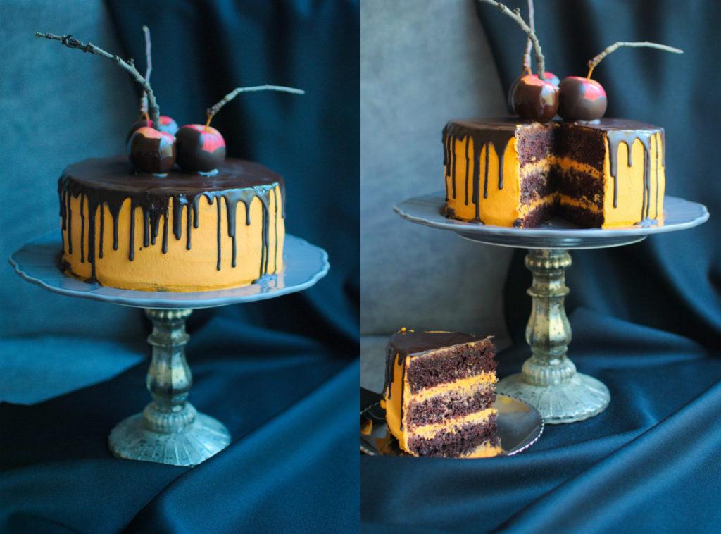 Czekoladowy tort na Halloween