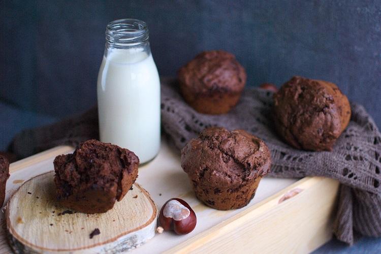 muffiny Muffinki potrójnie czekoladowe