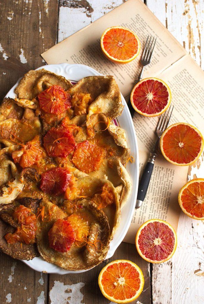 Naleśniki z sosem z sycylijskich pomarańczy