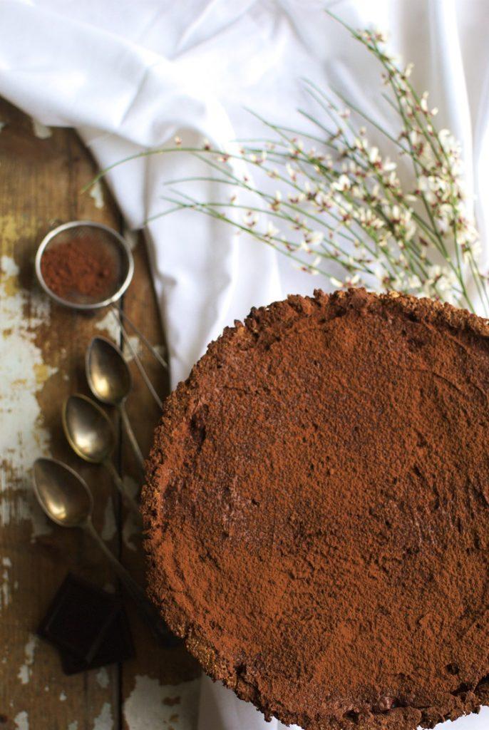 tarta-weganska-686x1024 Wegańska tarta czekoladowa z wiśniami