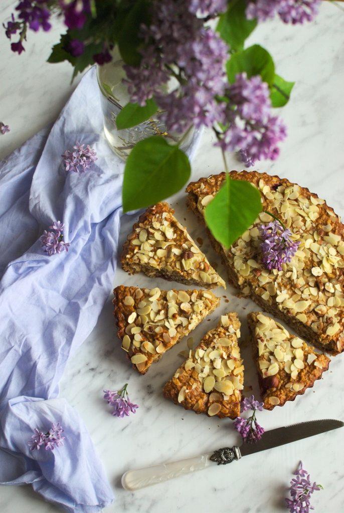 Ciasto owsiane z wiśniami
