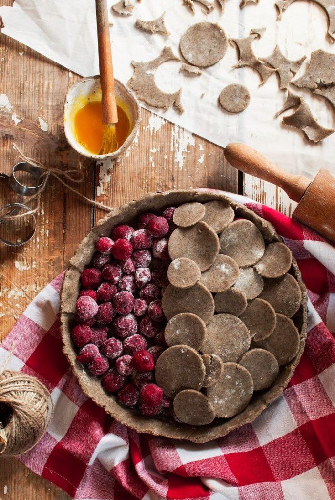 Bezglutenowa tarta z wiśniami