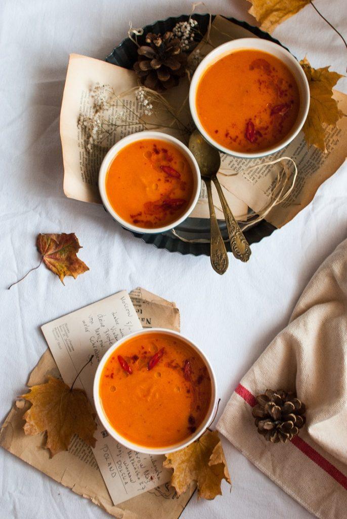 Zupa krem z batatów i czerwonej papryki