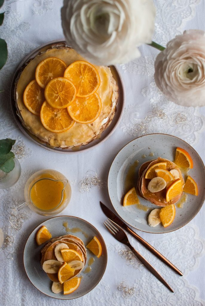 Tort naleśnikowy z ricottą i kandyzowanymi pomarańczami