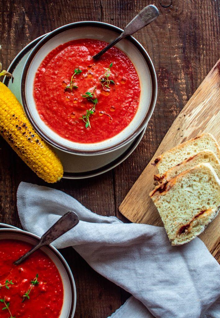 DSC_2863-708x1024 Zupa krem z pieczonych pomidorów z tymiankiem