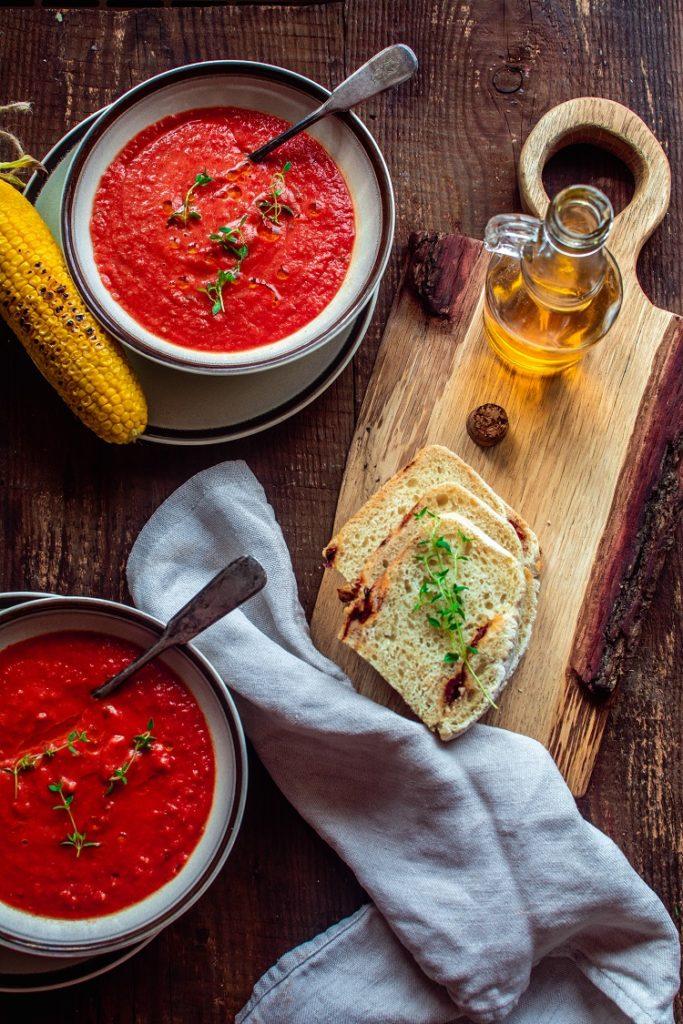 DSC_2874-683x1024 Zupa krem z pieczonych pomidorów z tymiankiem