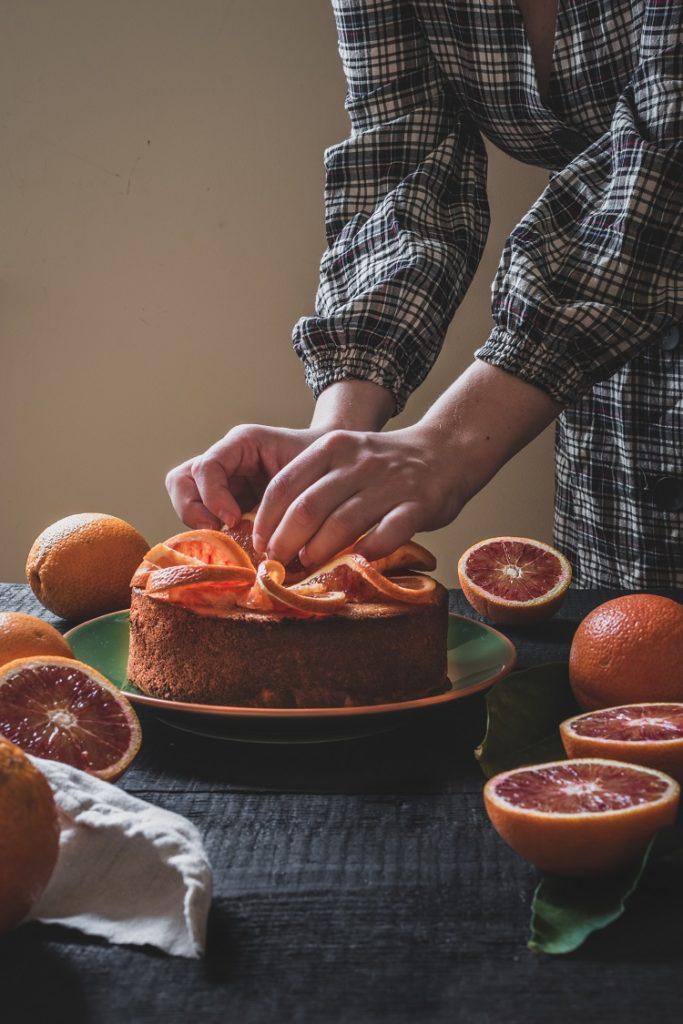 ciasto pomarańczowe z polentą