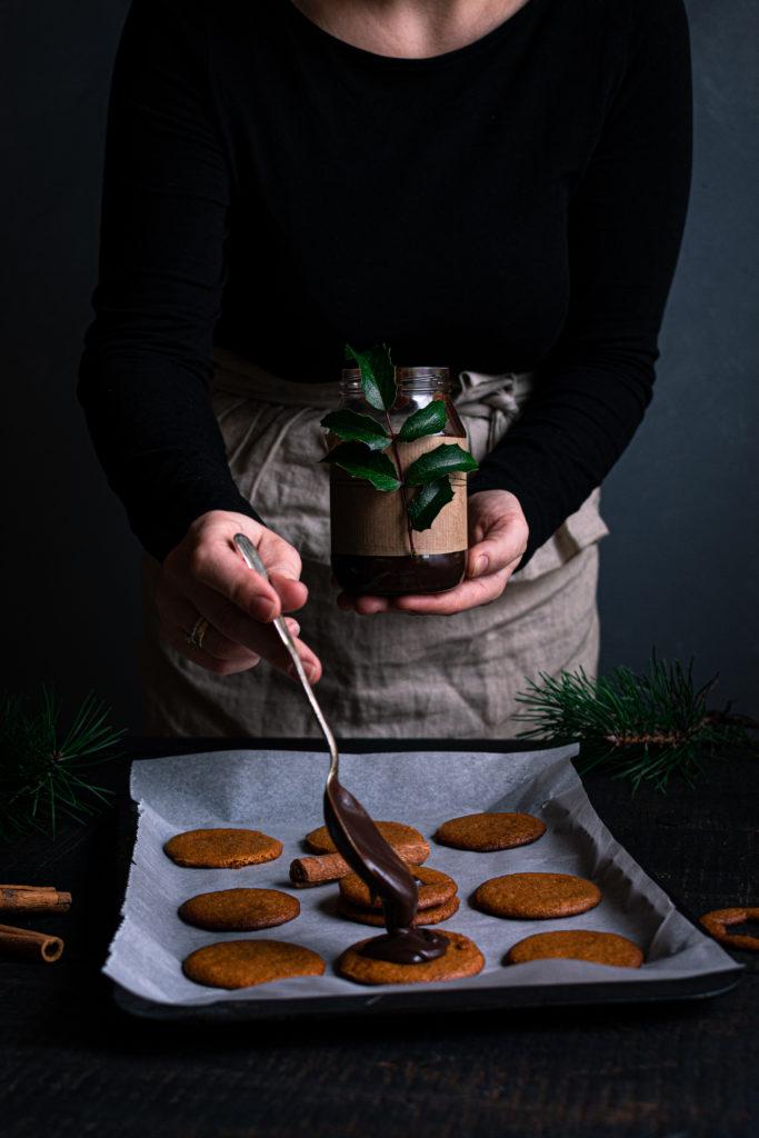 Pierniki przekładane czekoladowym karmelem