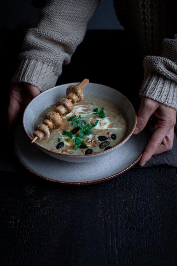 Zupa ziemniaczano - pieczarkowa